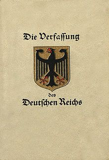 Die Weimarer Reichsverfassung vom 11. August 1919 | ^ https://de.pinterest.com/lisafriedrich56/germany-from-1900-1950/