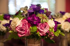 A Gilded Affair, Gilded Petals Purple, green, ivory and succulent bridal bouquet     photo by AzulOx Visuals