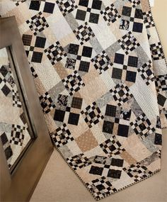 I love the muted colors in this quilt! Very traditional, but the ... : spotlight quilting - Adamdwight.com
