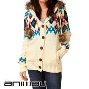 Animal Celebrate Chunky Knitted Cardigan - Whisper White
