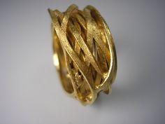 Wickelring goldplattiert von GoldschmiedeNorwinVitten auf DaWanda.com
