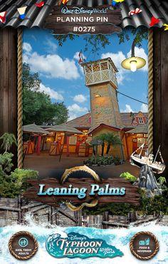 Walt Disney World Planning Pins: Leaning Palms