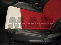 Alcantara® IL red + Alcantara® camel + Leather Look Anthrazit