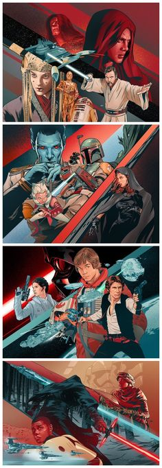 EW Star Wars Art by Martin Ansin‏