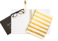 Sugar Paper Los Angeles | Gold Stripe Notebook