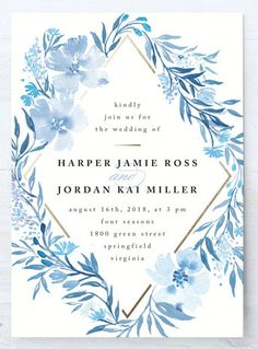 Poetic Blue Invitation from Minted