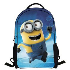 326fefb9ea60 2014 New Fashion Novelty Despicable Me Kids Cartoon Backpack Minions  emochilas children school bag mochilas free