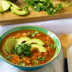 This cleaned up paleo chicken tortilla soup is perfect on a cold day! Healthy eating is easy with food that tastes this good!