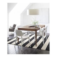 Simple might be the way to go. Now go on sale!  Scoop Side Chair in Dining Chairs | Crate and Barrel