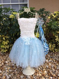 Frozen Tutu Frozen Party Favors Blue Tutu Dress by partiesandfun
