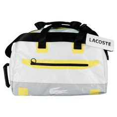 Lacoste Ace Duffle Bag for $145.00 very stylish looking bag.