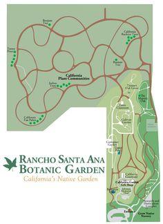 Rancho Santa Ana Botanic Garden Map