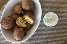Casual beach fare! Hush puppies on the pool deck at The Beach Club on #Kiawah Island