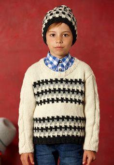7144272d0818 Kenan ensemble bonnet et pull enfant - tricot - Tutoriels de tricot en  français chez Makerist