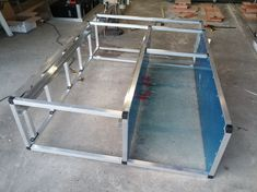 DIY Hilux DC Drawer System - 2015 Draw Slides, Builders Warehouse, Camping Drawing, Truck Bed Storage, Aluminium Cladding, 4x4 Van, Truck Mods, Cargo Net, Camper Trailers