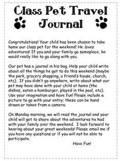 Class Pet Journal