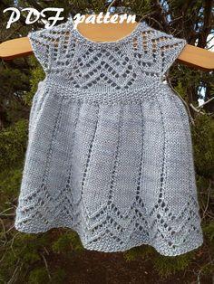 Muti Dress PDF pattern sock yarn newborn 3 6 9 by cashmerejunkie
