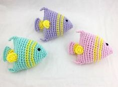 Crochet Toys Little Fishies Crochet Pattern – Little Giggles Adventures - It's almost summer ya'll! That means beach days, lake trips, and pool parties! Inspired by my daughters by the sea pool party, I created these cute little crochet fish (they will… Chat Crochet, Crochet Mignon, Crochet Hook Set, Crochet Amigurumi, Crochet Dolls, Crochet Sea Creatures, Crochet Animals, Crochet Simple, Love Crochet