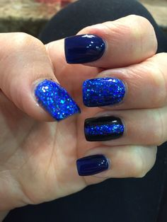 Thin blue line nails #LEOW #Leowife