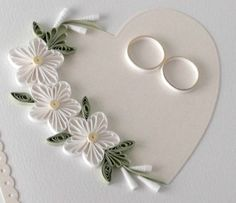 Quilled wedding card paper quilling by PaperDaisyCardDesign, £7.00