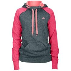 adidas Ultimate Fleece Hoodie - Women's - Dark Shale/Vivid Yellow.....want! looks soooo cozzzzzy!