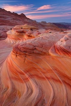 Red sandstone near Zion National Park in southern Utah (if I recall...). One of the most beautiful places on the planet.