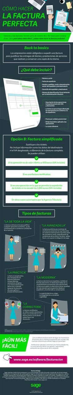 Cómo hacer la factura perfecta #infografía #infographic