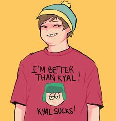 South Park Boyfriend Senarios - A picture of him on your phone +New character! Kyle South Park, South Park Funny, Creek South Park, South Park Anime, South Park Fanart, One Sided Relationship, Kyle Broflovski, Eric Cartman, Pokerface