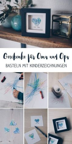 DIY gift idea with children& drawing - gift idea for grandma .- DIY Geschenkidee mit Kinderzeichnung – Geschenkidee für Oma und Opa DIY gift idea with children& drawing – tinker gifts with toddler – heart in the frame for grandma and grandpa - Toddler Crafts, Crafts For Kids, Kids Diy, Toddler Drawing, Diy Bebe, Father's Day Diy, Grandma And Grandpa, Gift For Grandpa, Diy Gifts For Grandma