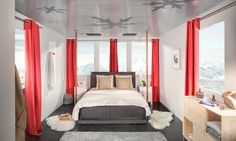A Bedroom in a Courchevel Cable Car – Fubiz™