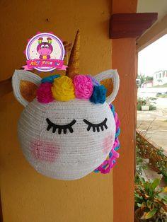 Piñata de unicornio, síguenos en facebook ART-piñatas .