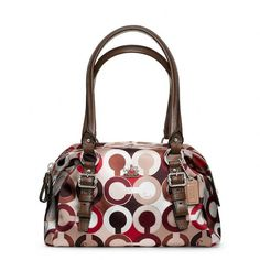 Coach Madison Graphic Op Art Small Bag ($188) ❤ liked on Polyvore