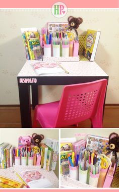 DIY DESK ORGANIZER It's DIY Friday!  Let me share another recycled treasure.