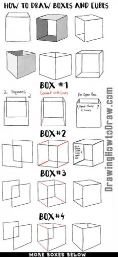 Learn how to draw boxes and cubes and shade them with easy step by step drawing lesson