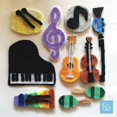 Cest Petite Vienna DIY Quiet Busy Book Musical Instruments Piano Xylophone Violin Maracas Melody Drum Guitar Trumpet