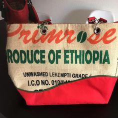 Un des sacs Samba en sac à café cousu par Marie-Claude - Patron Sacôtin