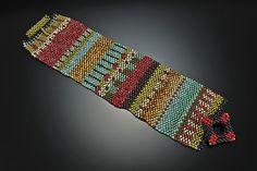 Navajo Cuff: Julie Powell: Beaded Bracelet - Artful Home