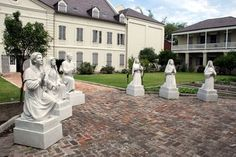 Built in 1752, the Old Ursuline Convent in New Orleans is the only remaining French-colonial building in the United States. The Ursulines were the first of many orders of religious women who came to New Orleans and founded schools, orphanages, and asylums and ministered to the needs of the poor. Arriving in New Orleans in 1727 after a journey that nearly saw them lost at sea or to pirates or disease. The Ursuline Academy founded in 1727, is the oldest girls' school in the country.