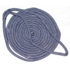 Seachoice Double Braid Nylon Dock Line- Navy