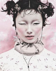 Li Zheng shot by one of China's leading photographers Chen Man as part of the sensational i-D Pre-Spring 2012: Whatever the Weather issue celebrating China's diverse beauty and the Year of the Dragon.