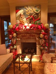 The Best Christmas Fireplace Decoration For Any Home Model 45 Diy Christmas Fireplace, Christmas Mantels, Noel Christmas, Christmas Lights, Christmas Crafts, Christmas Interiors, Xmas Decorations, Thanksgiving, Beautiful Christmas