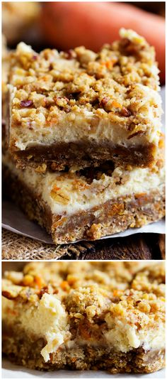 The Best Carrot Cake Recipes are exactly what you need this Easter season! Not only are these carrot cake desserts delicious, but they are perfect to help celebrate! Carrot Cake Bars, Easy Carrot Cake, Carrot Cake Cheesecake, Carrot Cakes, Carrot Cake Cookies, Bar Cookies, Cheesecake Bars, Nutella, Cake Recipes