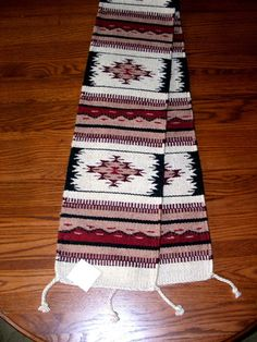 Beautiful handwoven wool table runner for just $39.95 w/ free shipping!  Other colors and patterns available in tablerunners in our big ebay store.  #homedecor #tablerunner #southwest