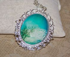 Blue skys clouds Photograph Pendant On by LaceyAnnPhotography