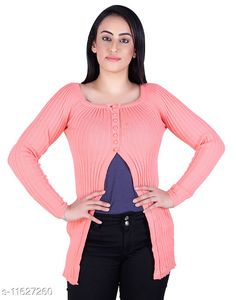 Checkout this latest Sweaters Product Name: *Ogarti woollen full sleeve round neck Women's  Shrug* Fabric: Acrylic Sleeve Length: Long Sleeves Pattern: Self-Design/Knitted Design Multipack: 1 Sizes:  M (Bust Size: 17 in, Length Size: 25 in, Waist Size: 16 in, Hip Size: 18 in, Shoulder Size: 13 in)  L (Bust Size: 18 in, Length Size: 26 in, Waist Size: 17 in, Hip Size: 19 in, Shoulder Size: 13 in)  XL (Bust Size: 19 in, Length Size: 27 in, Waist Size: 18 in, Hip Size: 20 in, Shoulder Size: 14 in)  XXL (Bust Size: 20 in, Length Size: 28 in, Waist Size: 19 in, Hip Size: 21 in, Shoulder Size: 14 in)  Country of Origin: India Easy Returns Available In Case Of Any Issue   Catalog Rating: ★4 (256)  Catalog Name: Classic Feminine Women Sweaters CatalogID_2193530 C79-SC1026 Code: 885-11627260-3351