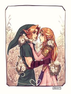 Legend of Zelda - Link and Zelda