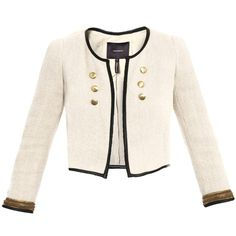 Isabel Marant Abies Cropped Jacket (23.115 RUB) ❤ liked on Polyvore featuring outerwear, jackets, blazers, tops, casacos, cropped blazer jacket, short-sleeve blazers, sequin blazer, collarless blazer and pink cropped jacket