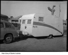 vintage caravan photo. 1953