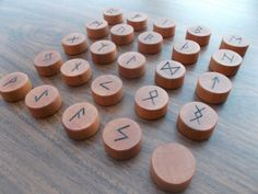 Runes Runic alphabet Wooden Runes Magical runes by WoodpeckerLG