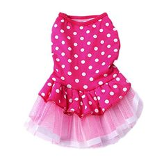 Adarl Cute Polka Dot Tutu Dress Lace Skirt Princess Clothes Party Dress For Dogs Cats Puppy Pets Red S -- Be sure to check out this awesome product. Note: It's an affiliate link to Amazon.